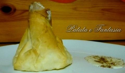 Fagottino di pasta fillo ripieno di patate