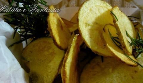 Chips di patate aromatizzate all'aglio e rosmarino
