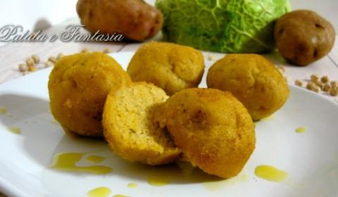 Polpette vegane con patate e ceci