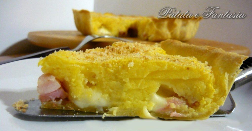 Ben noto Torta salata con patate, prosciutto cotto e cuore filante - Patata  KC76