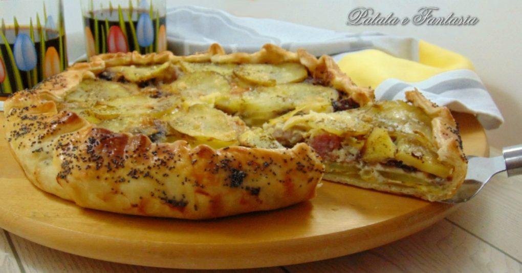 Torta salata di patate ricetta torta salata torta for Cucinare salsiccia