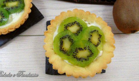 Crostatine con ricotta, kiwi e My Dietor Stevia
