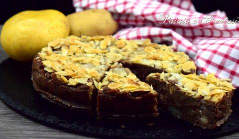 Torta di patate, cioccolato e mandorle
