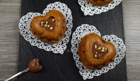 Cuore di Muffin alla nutella