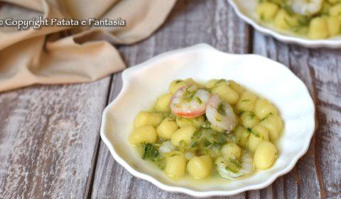 Chicche di patate con Zucchine e Gamberetti