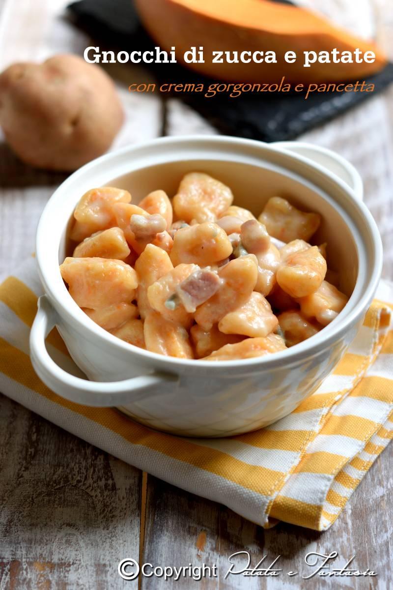 Ricetta Gnocchi Zucca E Pancetta.Gnocchi Patate E Zucca Con Crema Di Gorgonzola