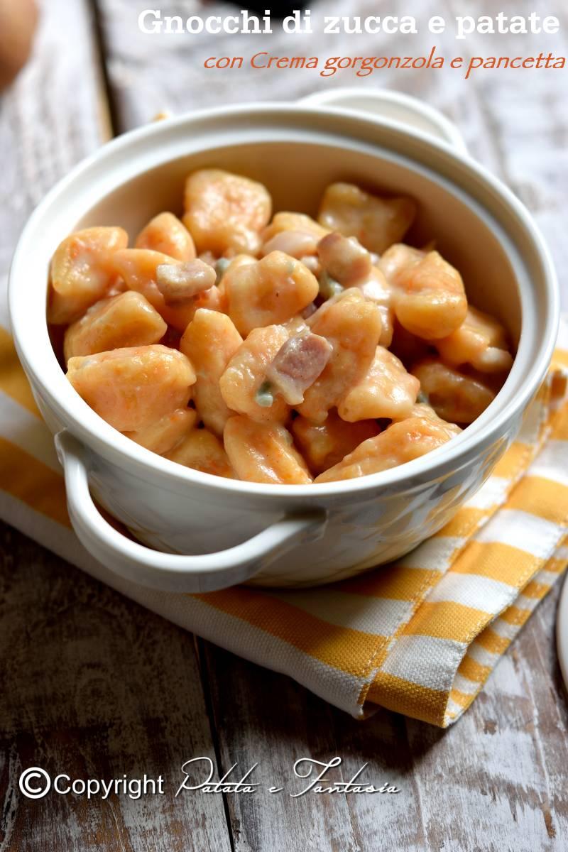 Ricetta Gnocchi Zucca E Gorgonzola.Gnocchi Patate E Zucca Con Crema Di Gorgonzola