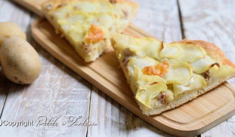 Pizza con salsiccia e patate ( Lunga Lievitazione)
