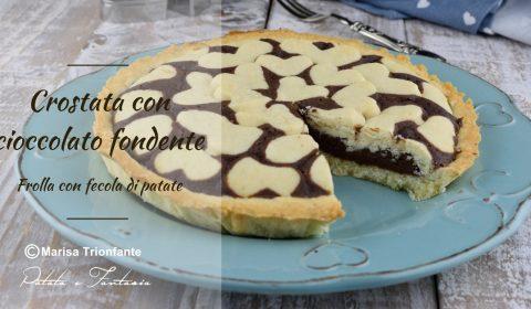 Crostata con Cioccolato fondente - Crostata di Cuori