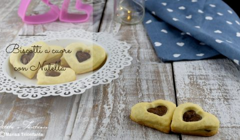 Biscotti a cuore con Nutella