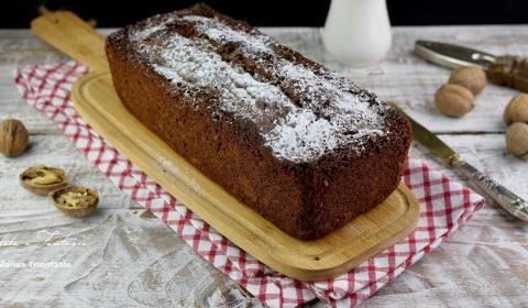 Plumcake con ricotta, cioccolato e noci
