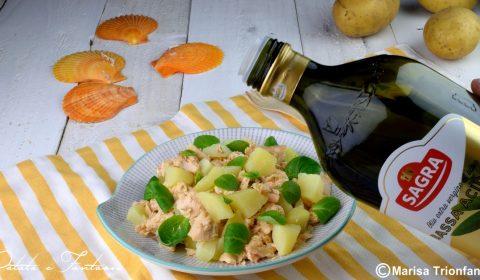 Insalata di salmone fresco e patate
