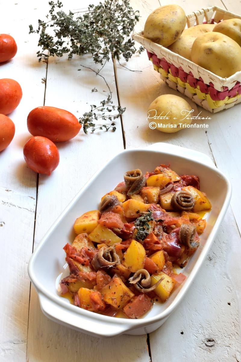 patate pomodori contorno in padella