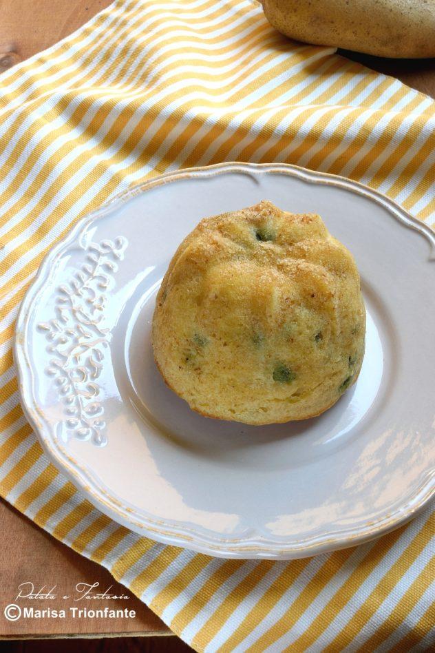 tortino di patate con piselli