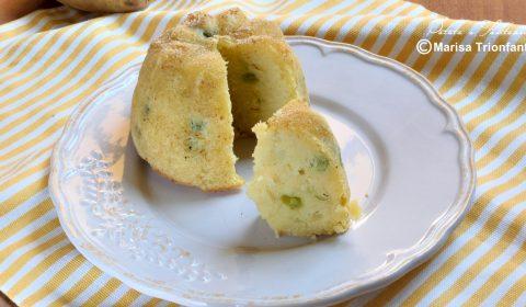 Tortini di patate con piselli e formaggio