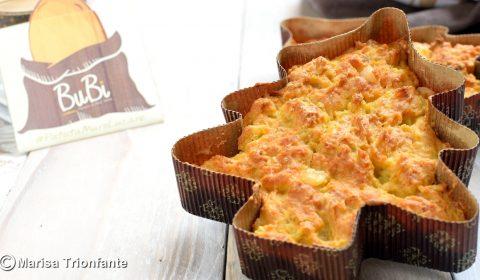 Alberello salato con patate, salumi e formaggio