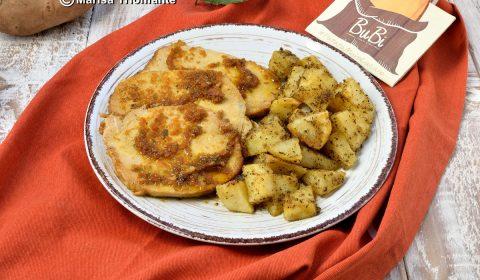 Arista di maiale con patate al forno