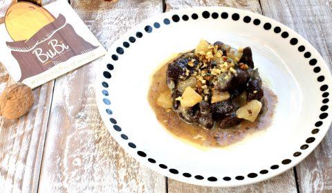Gnocchi al cacao con gorgonzola e pere