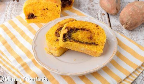 Pan brioche con patate dolci e nutella