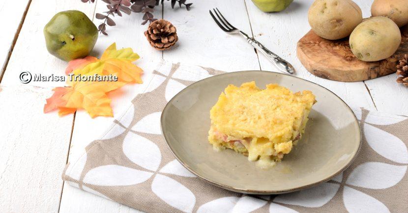 Timballo di patate e verza