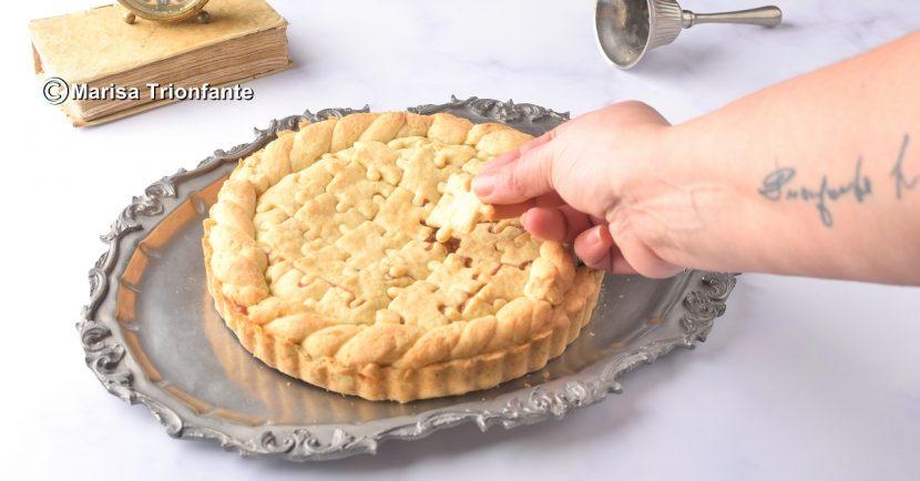 crostata con pasta frolla di patate